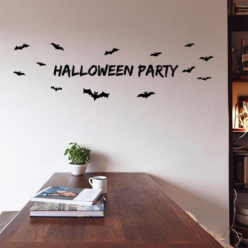 1-Компл-Хэллоуин-Винил-Наклейки-На-Стены-Летучие-Мыши-Летать-Стены-Искусства-Настенной-Росписи-Стикер-Party